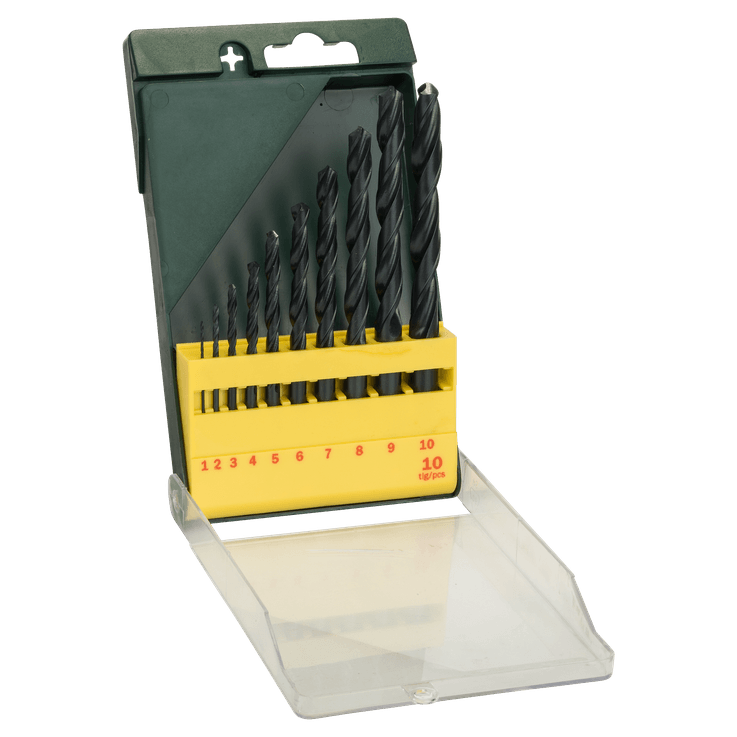 10-dielna súprava vrtákov do kovu HSS-R