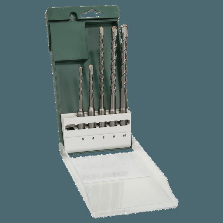 5-dielna súprava príklepových vrtákov SDS plus