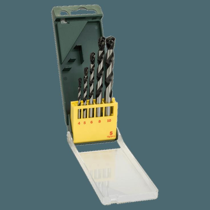 5-dielna súprava vrtákov do betónu