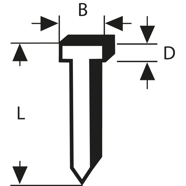 Žebelj, tip 48