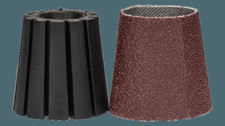 Komplet vpenjalnega stebla in brusilnega tulca (konični) 80