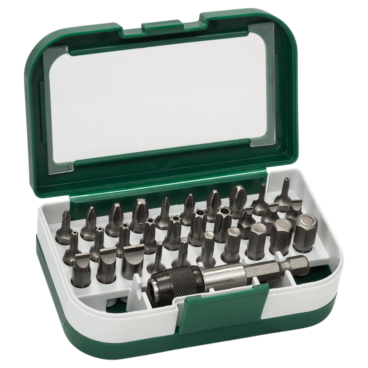 Standardni kombinovani komplet nastavaka za odvrtače, 31 delova (S, PH, PZ, T, HEX)