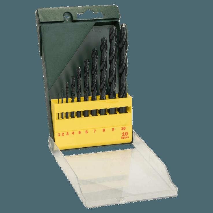 Metallborr HSS-R-sats, 10 delar